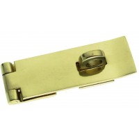 Hasp and Staple polished brass 75mm